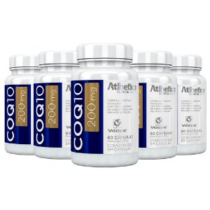 Coenzima Q10 200mg - 5 unidades de 60 cápsulas - Atlhetica