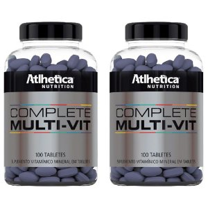 Multivitamínico Complete - 2 unidades de 100 Tabletes - Athletica