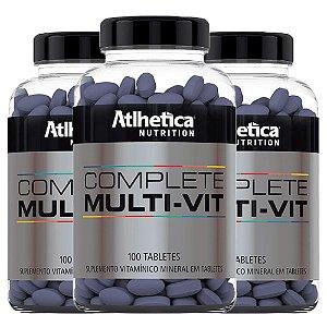 Multivitamínico Complete - 3 unidades de 100 Tabletes - Athletica