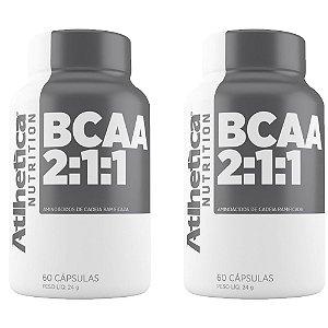 BCAA - 2 unidades de 60 Cápsulas - Atlhetica