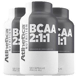 BCAA - 3 unidades de 60 Cápsulas - Atlhetica