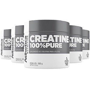 Creatina 100% Pure - 5 unidades de 100 Gramas - Atlhetica