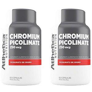 Chromium Picolinate Cromo 250mcg - 2 unidades de 60 Cápsulas - Atlhetica