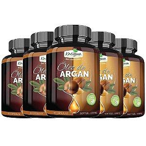 Óleo de Argan - 5 unidades de 60 cápsulas - Katigua