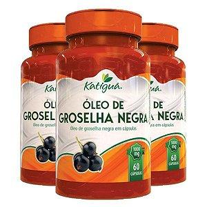Óleo de Groselha Negra - 3 unidades de 60 Cápsulas - Katigua