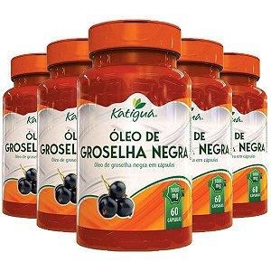 Óleo de Groselha Negra - 5 unidades de 60 Cápsulas - Katigua