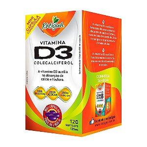 Vitamina D3 Colecalciferol - 120 Cápsulas - Katigua