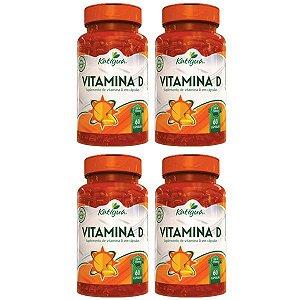 Vitamina D Colecalciferol - 4 unidades de 60 Cápsulas - Katigua