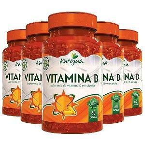 Vitamina D Colecalciferol - 5 unidades de 60 Cápsulas - Katigua