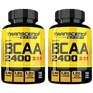 BCAA 2400 2:1:1 - 2 unidades de 120 Cápsulas - Katigua Transcend Sport