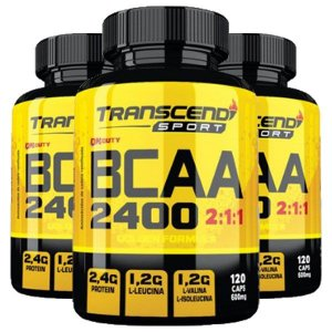 BCAA 2400 2:1:1 - 3 unidades de 120 Cápsulas - Katigua Transcend Sport