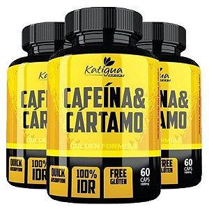 Cafeína e Cártamo - 3 unidades de 60 Cápsulas - Katigua Sport