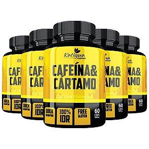 Cafeína e Cártamo - 5 unidades de 60 Cápsulas - Katigua Sport
