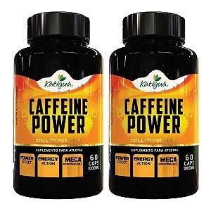 Caffeine Power (Cafeína) - 2 unidades de 60 Cápsulas - Katigua Sport