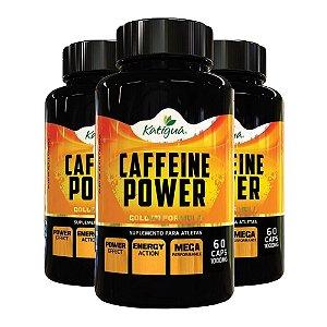 Caffeine Power (Cafeína) - 3 unidades de 60 Cápsulas - Katigua Sport