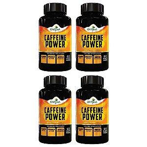 Caffeine Power (Cafeína) - 4 unidades de 60 Cápsulas - Katigua Sport