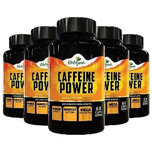 Caffeine Power (Cafeína) - 5 unidades de 60 Cápsulas - Katigua Sport