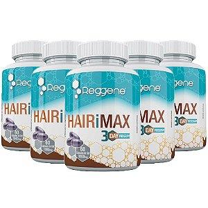 HairiMax Cabelos e Unhas - 5 unidades de 60 Cápsulas - Katigua Reggene