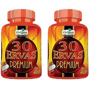 Chá 30 Ervas Premium - 2 unidades de 120 cápsulas - Katigua