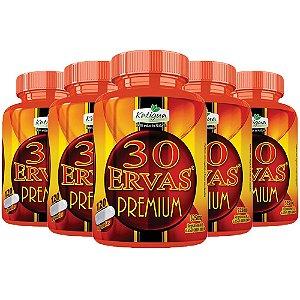 Chá 30 Ervas Premium - 5 unidades de 120 cápsulas - Katigua