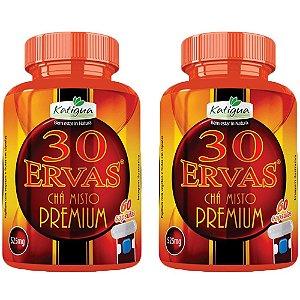Chá 30 Ervas Premium - 2 unidades de 60 cápsulas - Katigua