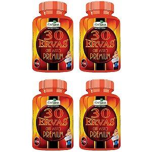 Chá 30 Ervas Premium - 4 unidades de 60 cápsulas - Katigua
