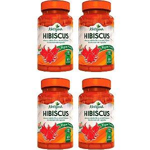 Hibiscus Vegan - 4 unidades de 60 Cápsulas - Katigua