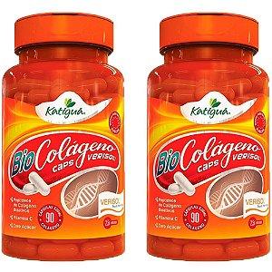 Colágeno Verisol com Vitamina C - 2 unidades de 90 Cápsulas - Katigua