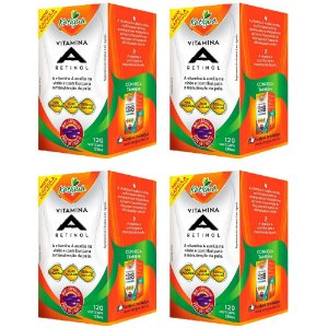 Vitamina A Retinol - 4 unidades de 120 Cápsulas - Katigua