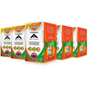 Vitamina A Retinol - 5 unidades de 120 Cápsulas - Katigua