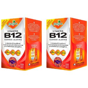 Vitamina B12 Cianocobalamina - 2 unidades de 120 Cápsulas - Katigua