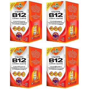 Vitamina B12 Cianocobalamina - 4 unidades de 120 Cápsulas - Katigua