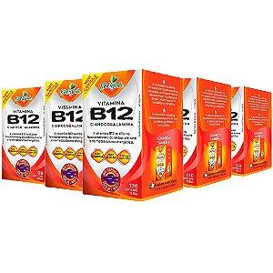 Vitamina B12 Cianocobalamina - 5 unidades de 120 Cápsulas - Katigua