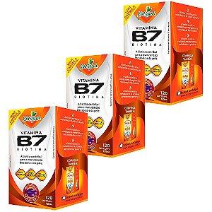 Vitamina B7 Biotina - 3 unidades de 120 Cápsulas - Katigua