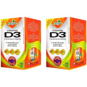 Vitamina D3 Colecalciferol - 2 unidades de 120 Cápsulas - Katigua