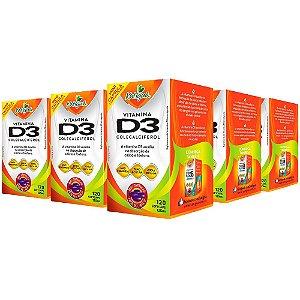 Vitamina D3 Colecalciferol - 5 unidades de 120 Cápsulas - Katigua