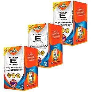Vitamina E Tocoferol - 3 unidades de 120 Cápsulas - Katigua