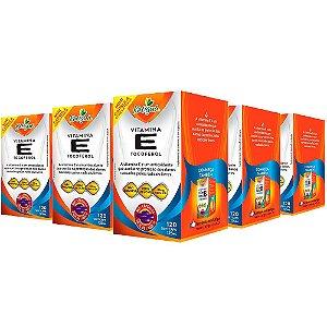 Vitamina E Tocoferol - 5 unidades de 120 Cápsulas - Katigua