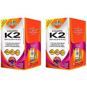 Vitamina K2 Menaquinona - 2 unidades de 120 Cápsulas - Katigua