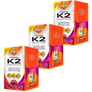 Vitamina K2 Menaquinona - 3 unidades de 120 Cápsulas - Katigua
