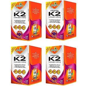 Vitamina K2 Menaquinona - 4 unidades de 120 Cápsulas - Katigua