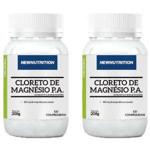 Cloreto de Magnésio P.A. - 2 unidades de 120 Comprimidos - NewNutrition