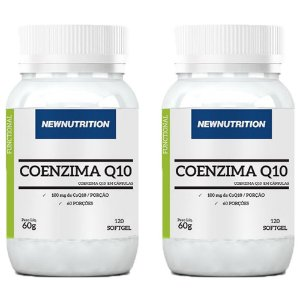 Coenzima Q10 100mg - 2 unidades de 120 Cápsulas - NewNutrition
