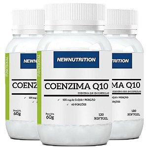 Coenzima Q10 100mg - 3 unidades de 120 Cápsulas - NewNutrition