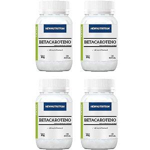 Betacaroteno com Vitamina A - 4 unidades de 120 Cápsulas - NewNutrition
