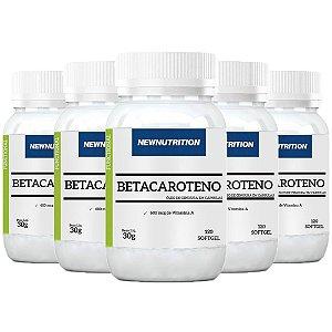 Betacaroteno com Vitamina A - 5 unidades de 120 Cápsulas - NewNutrition