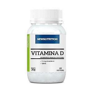 Vitamina D - 120 Cápsulas - NewNutrition