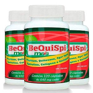 Emagrecedor Bequispi Mais - 3 unidades de 120 Cápsulas - Promel