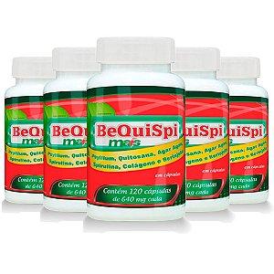 Emagrecedor Bequispi Mais - 5 unidades de 120 Cápsulas - Promel