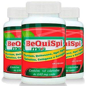 Emagrecedor Bequispi Mais - 3 unidades de 60 Cápsulas - Promel
